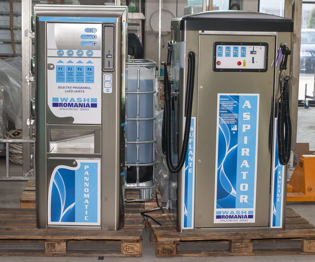 distribuitor lavete si aspirator self service(cu fise)